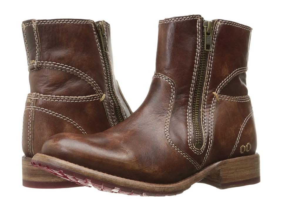 Bed Stu - Eiffel (Teak Driftwood Leather) Women's Zip Boots