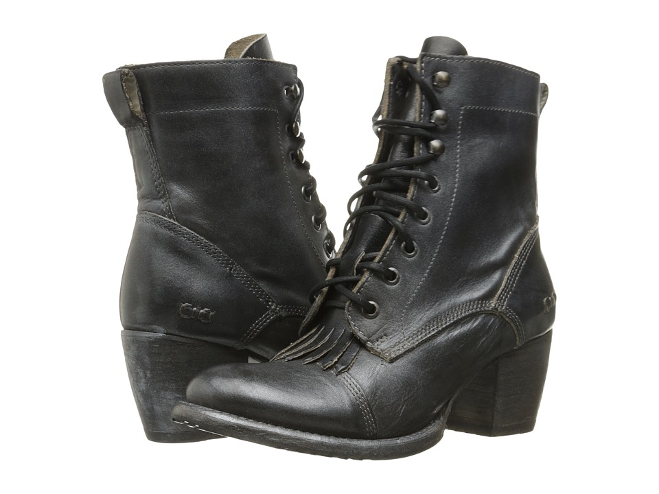 Bed Stu - Finis (Black Rustic/Blue Leather) Women's Lace-up Boots