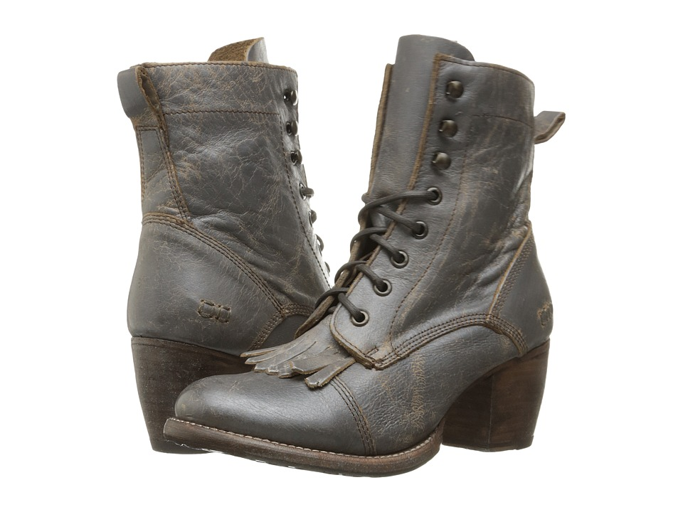 Bed Stu - Finis (Smoke Grey Lux Leather) Women's Lace-up Boots