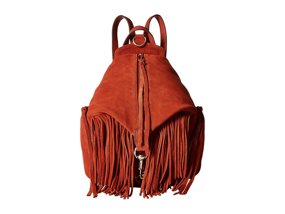 Rebecca Minkoff - Fringe Medium Julian Backpack (Baked Clay) Backpack Bags
