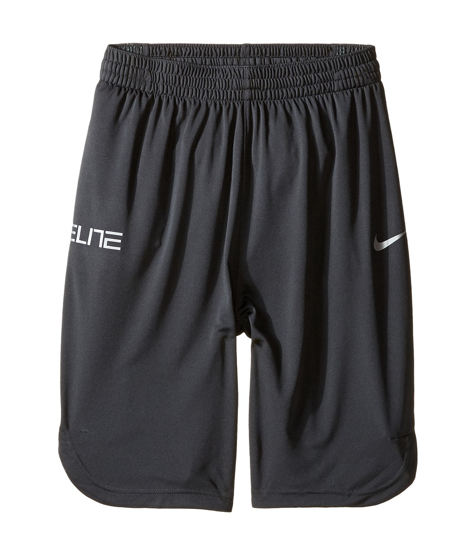 Nike Kids - Elite Basketball Short (Little Kids/Big Kids) (Anthracite/Cannon/Matte Silver) Boy's Shorts