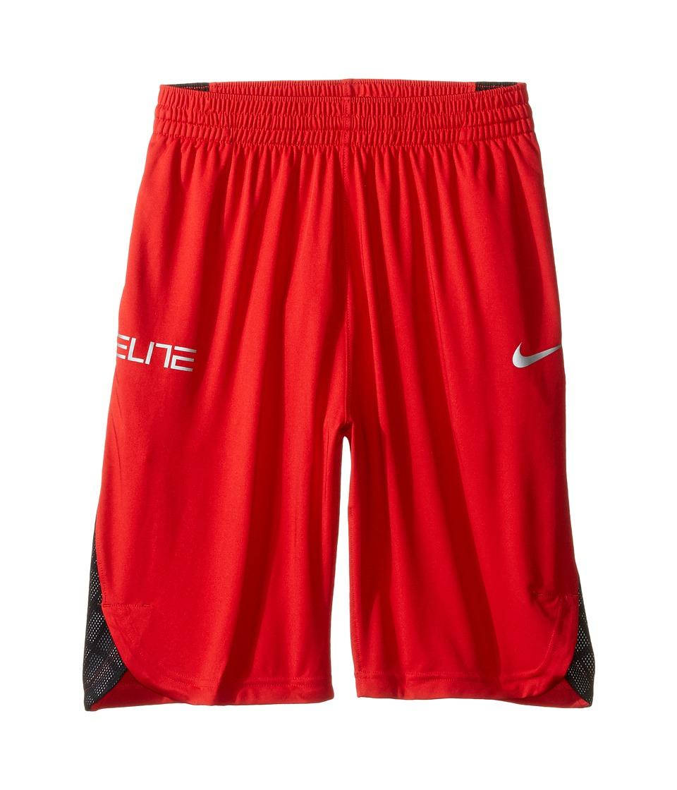 Nike Kids - Elite Basketball Short (Little Kids/Big Kids) (University Red/Black/Wolf Grey) Boy's Shorts