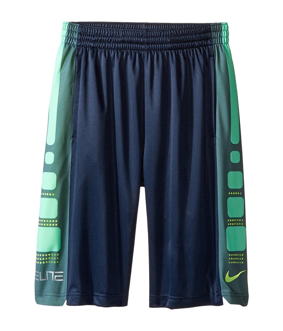Nike Kids - Elite 8 Basketball Short (Little Kids/Big Kids) (Obsidian/Hasta) Boy's Shorts