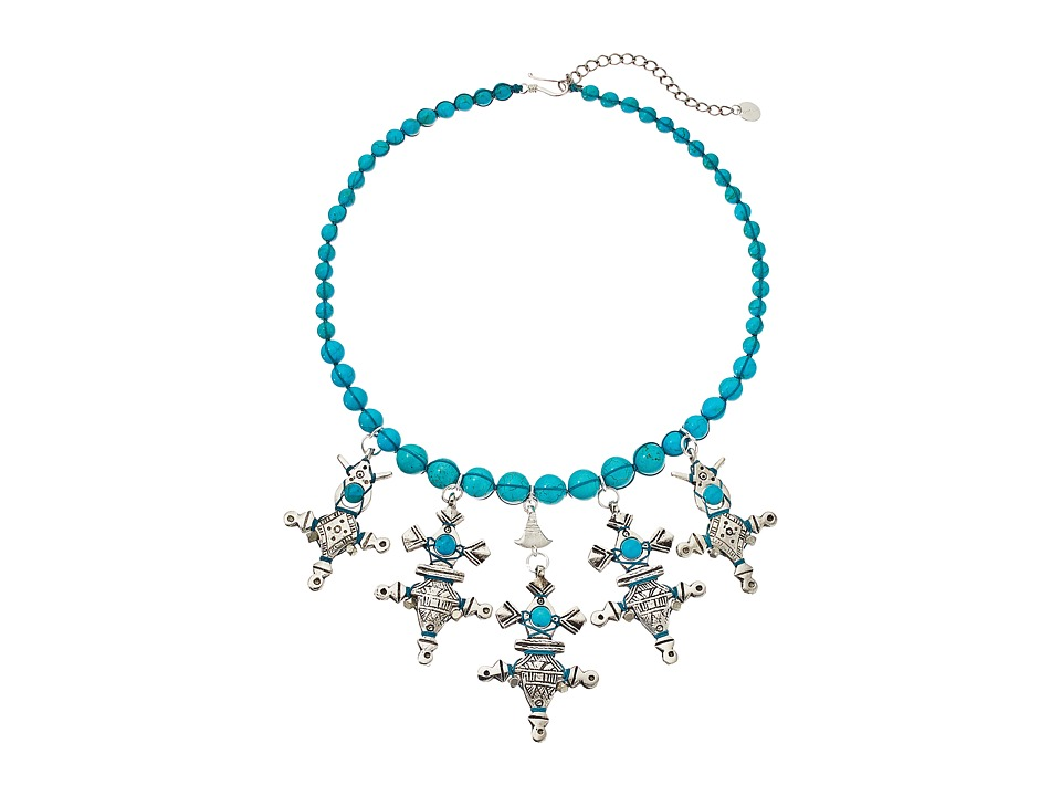 Chan Luu - 17' Turquoise Short Charms Necklace (Turquoise) Necklace
