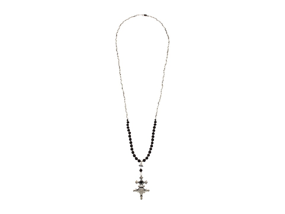 Chan Luu - 34' Black Wood Necklace with Charm (Black Wood) Necklace