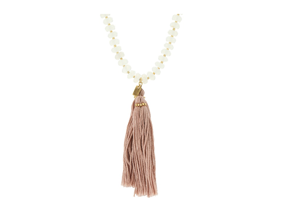 Chan Luu - 36' White Jade Necklace with Tassle (White Mix) Necklace