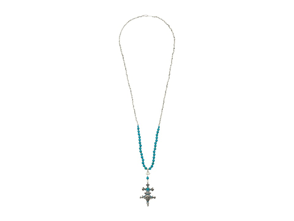 Chan Luu - 34' Turquoise Necklace with Charm (Turquoise) Necklace