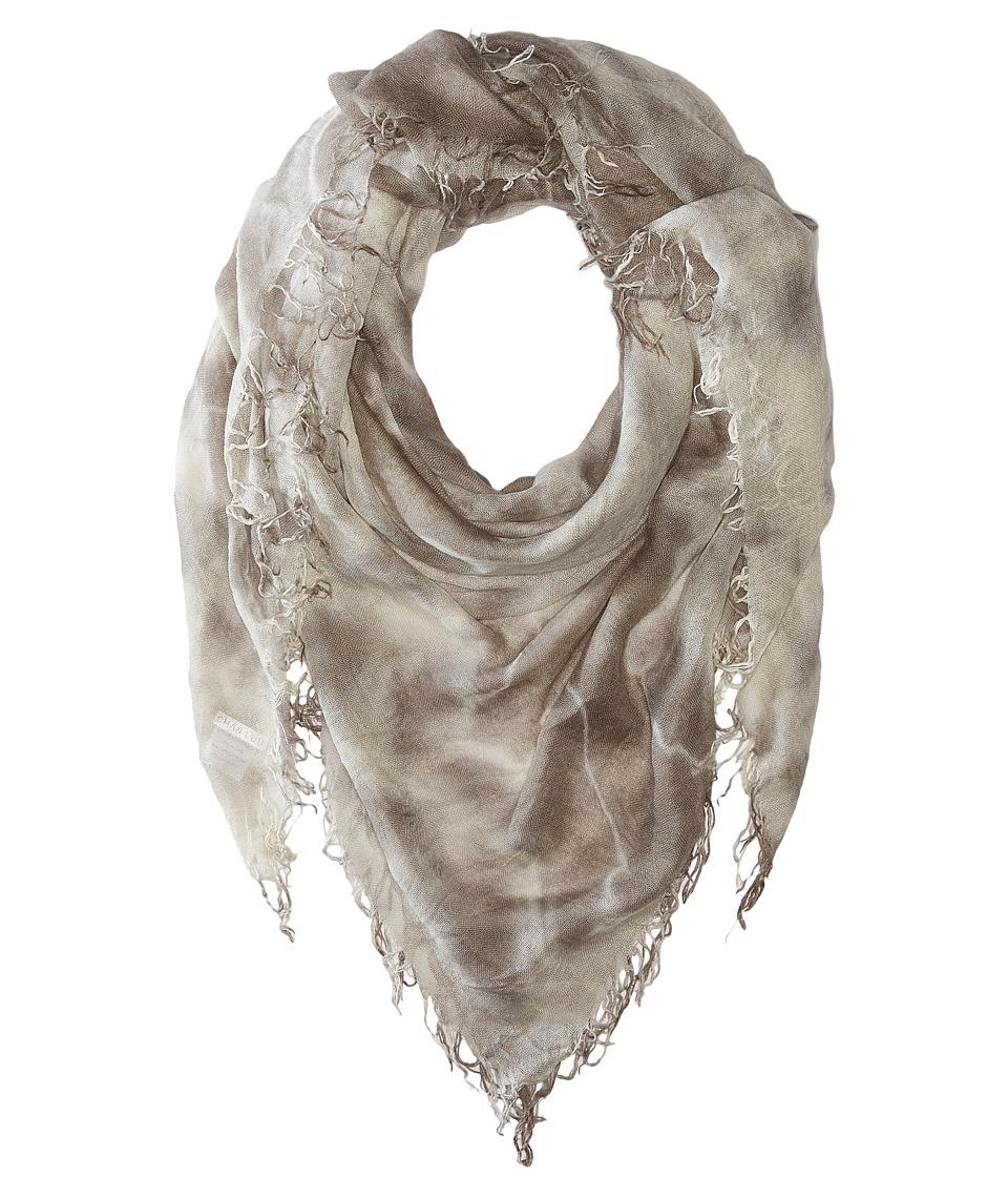 Chan Luu - Tie-Dye Cashmere Scarf (Cinder/Eggshell) Scarves