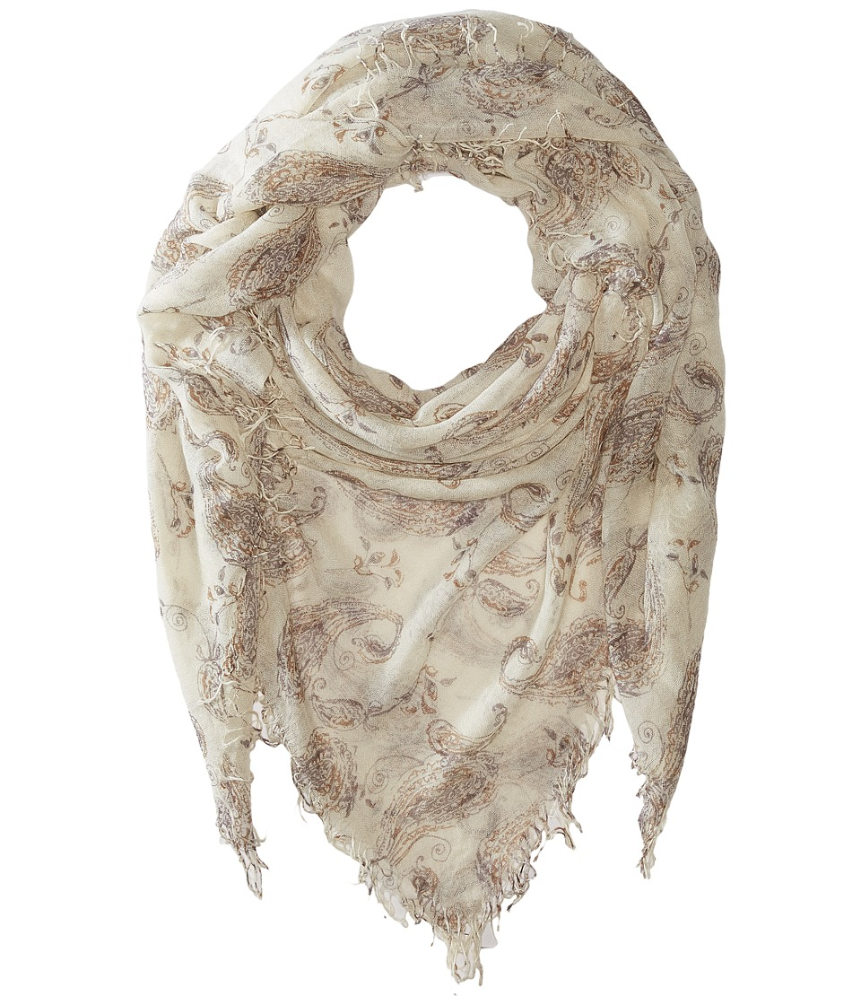 Chan Luu - Paisley Printed Cashmere Scarf (Sparrow Combo) Scarves