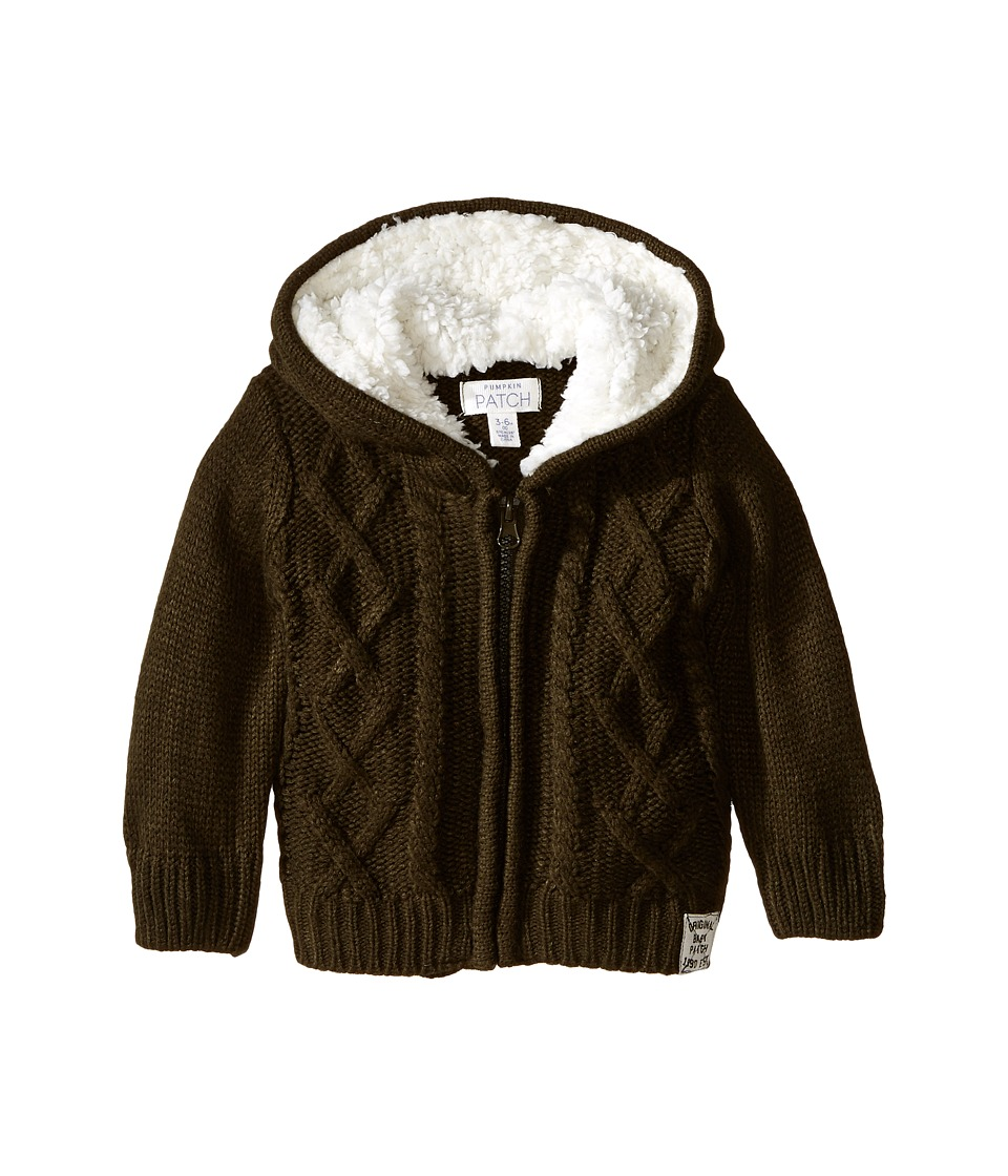 Pumpkin Patch Kids - Cable Knit Cardigan (Infant) (Ivy Green) Boy's Sweater