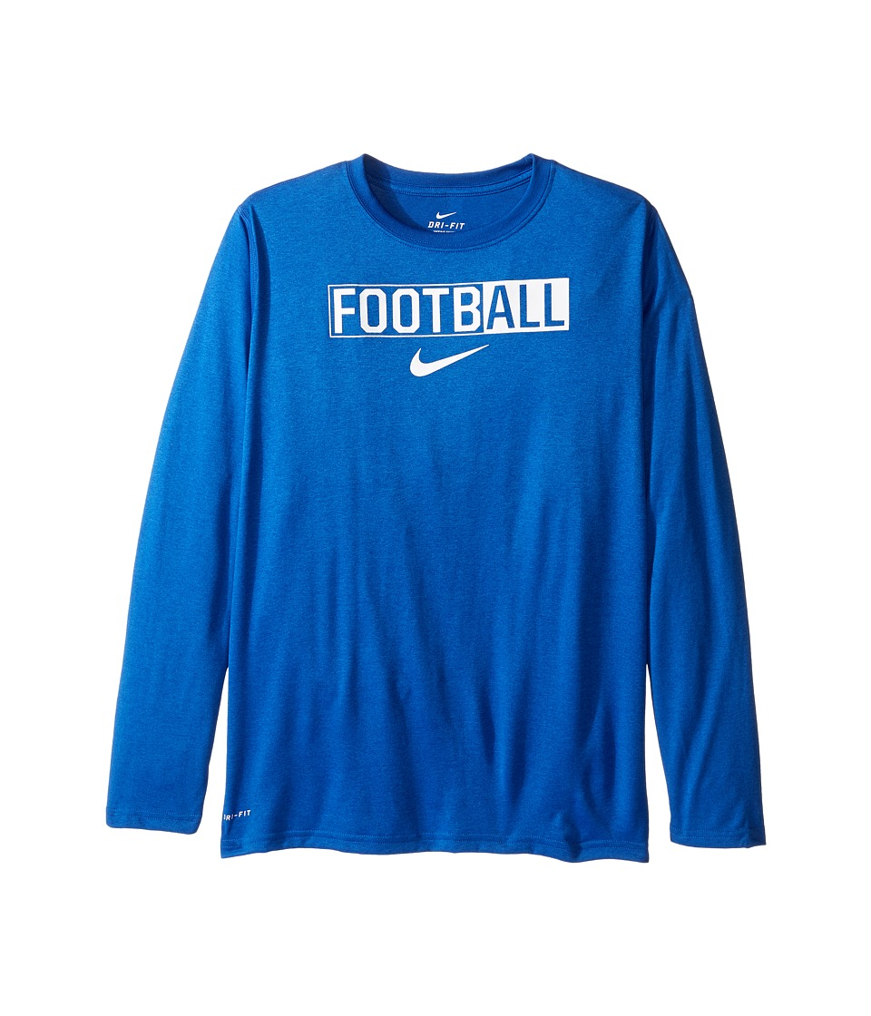 Nike Kids - Legend Long Sleeve All Football Tee (Little Kids/Big Kids) (Game Royal) Boy's T Shirt