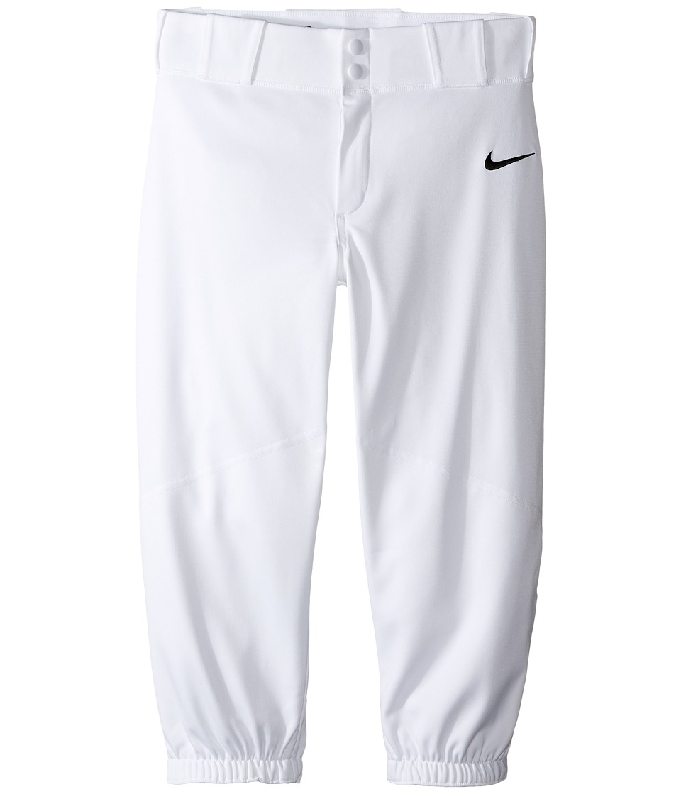 Nike Kids - Vapor Pro High Pants (Little Kids/Big Kids) (White/Black) Boy's Casual Pants