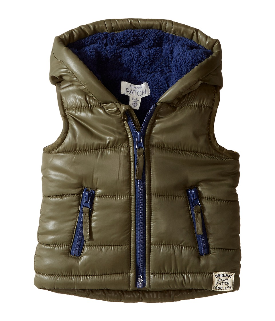 Pumpkin Patch Kids - Puffer Vest (Infant) (Ivy Green) Boy's Vest