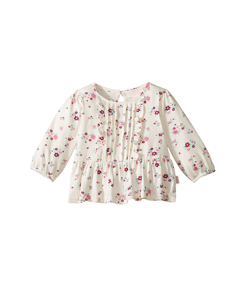 Pumpkin Patch Kids - Mini Floral Ruffle Top (Infant) (French Vanilla) Girl's Clothing