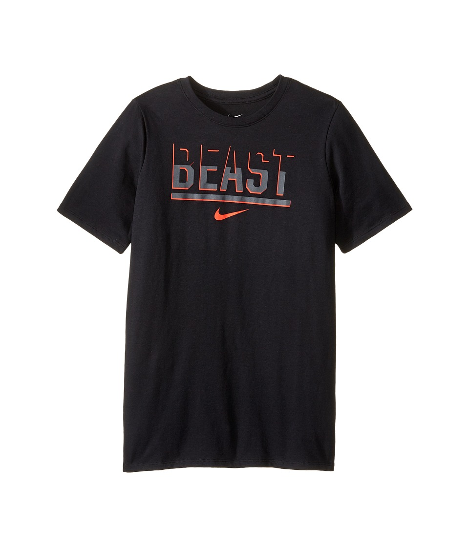 Nike Kids - DFCT Beast Tee (Little Kids/Big Kids) (Black/Black/Dark Grey) Boy's Clothing
