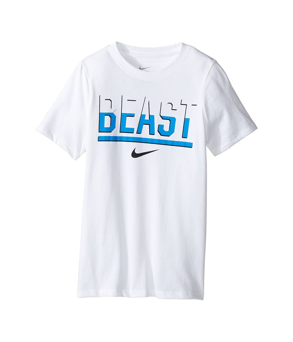 Nike Kids - DFCT Beast Tee (Little Kids/Big Kids) (White) Boy's Clothing