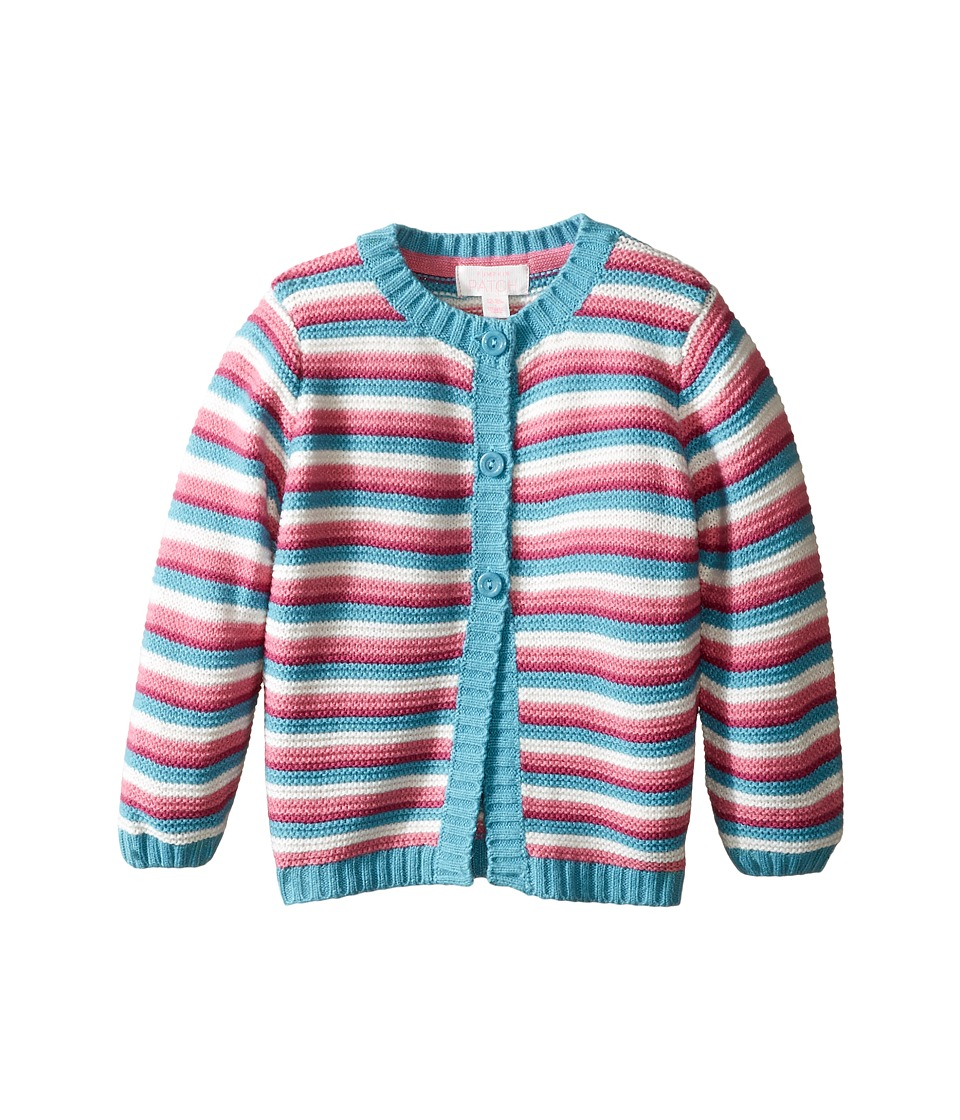 Pumpkin Patch Kids - Stripe Cardigan (infant) (Porcelain) Girl's Sweater