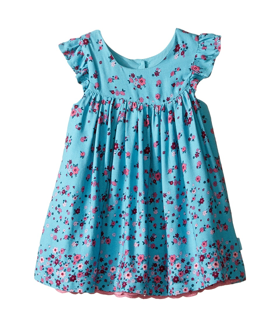Pumpkin Patch Kids - Boarder Print Folklore Dress (Infant) (Porcelain) Girl's Dress