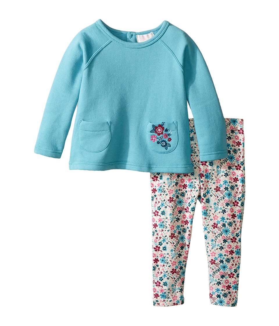 Pumpkin Patch Kids - Floral Set (Infant) (Porcelain) Girl's Active Sets