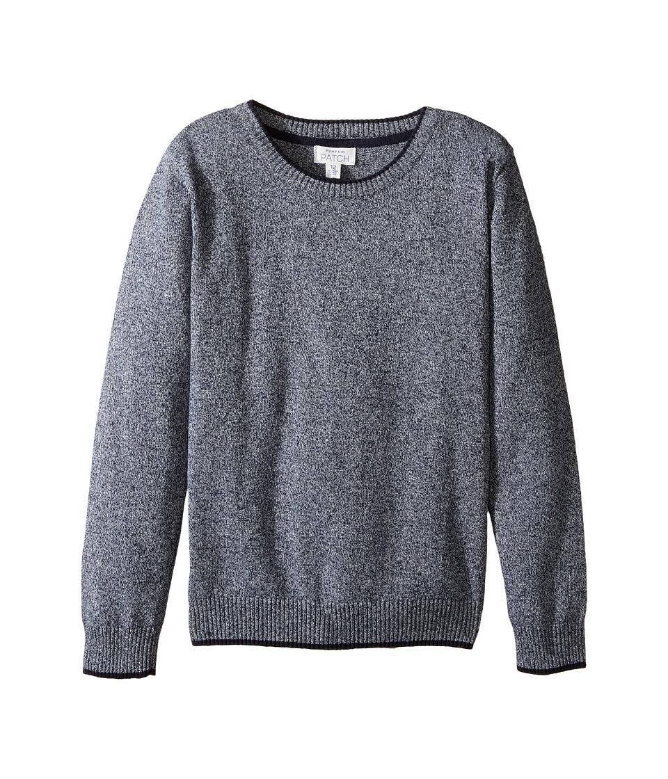 Pumpkin Patch Kids - Crew Neck Sweater (Infant/Toddler/Little Kids/Big Kids) (Blue Night Marle) Boy's Sweater