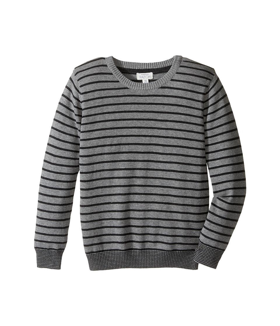 Pumpkin Patch Kids - Crew Neck Sweater (Infant/Toddler/Little Kids/Big Kids) (Grey Marle) Boy's Sweater