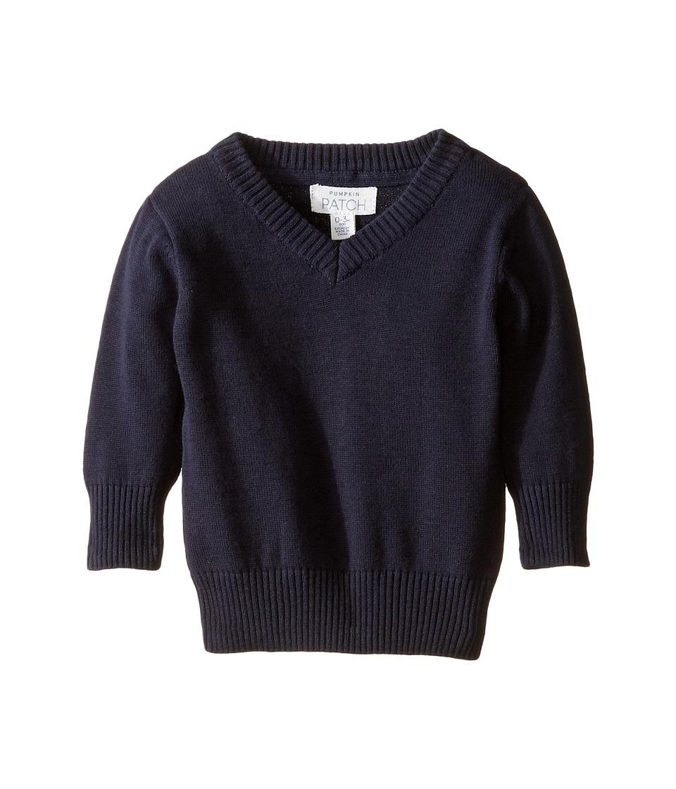 Pumpkin Patch Kids - V-Neck Sweater (Infant/Toddler/Little Kids/Big Kids) (Blue Night) Boy's Sweater