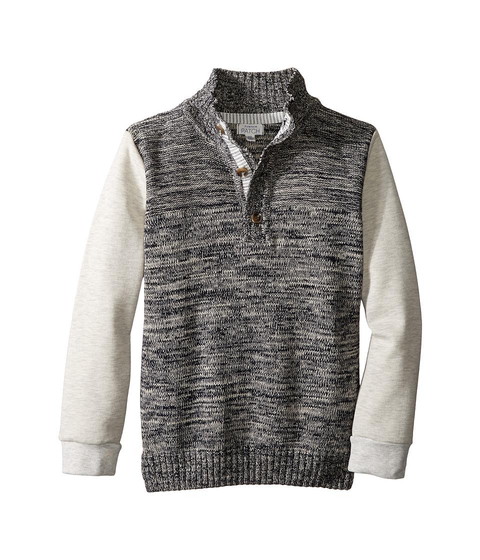 Pumpkin Patch Kids - Sweat Sleeve Sweater (Little Kids/Big Kids) (Parisian Night) Boy's Sweater