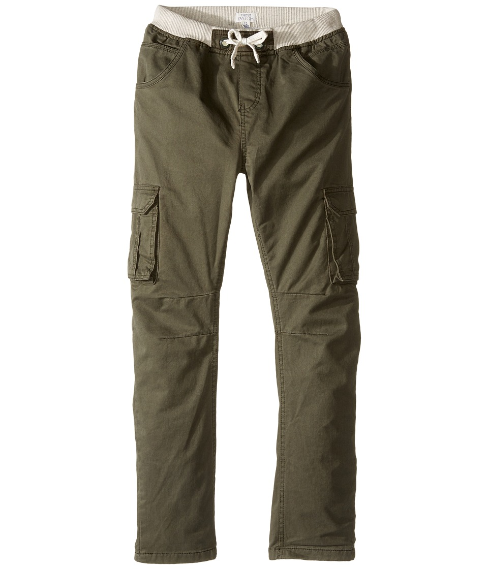 Pumpkin Patch Kids - Lined Cargo Pants (Big Kids) (Climbing Ivy) Boy's Casual Pants