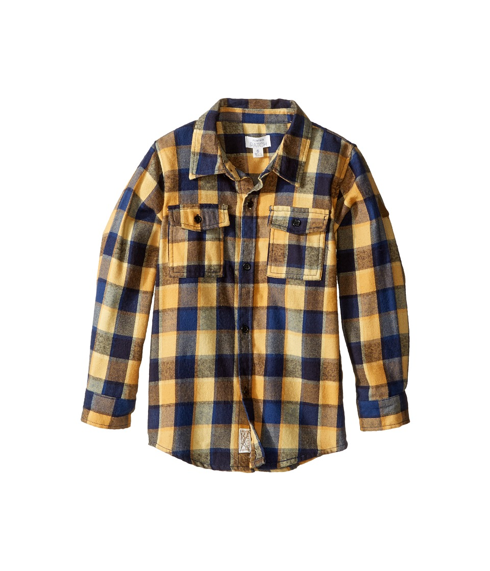 Pumpkin Patch Kids - Lumberjack Check Shirt (Infant/Toddler/Little Kids/Big Kids) (Medieval Blue) Boy's T Shirt