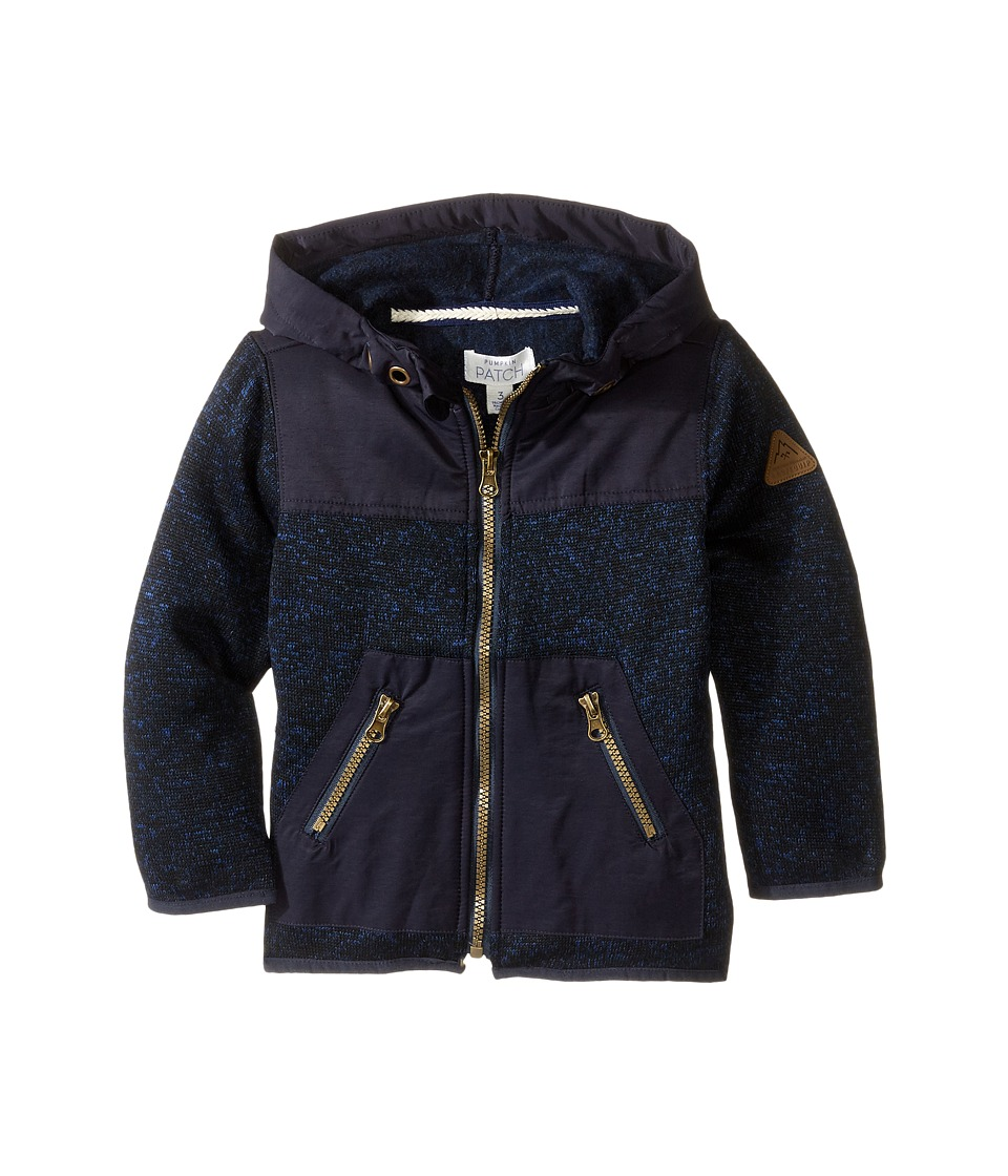 Pumpkin Patch Kids - Spliced Jacket (Infant/Toddler/Little Kids) (Estate Blue Marle) Girl's Jacket