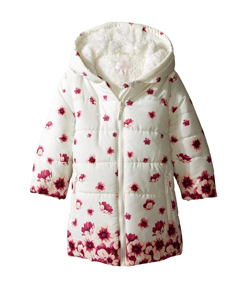 Pumpkin Patch Kids - Border Print Padded Jacket (Infant/Toddler/Little Kids/Big Kids) (French Vanilla) Girl's Coat