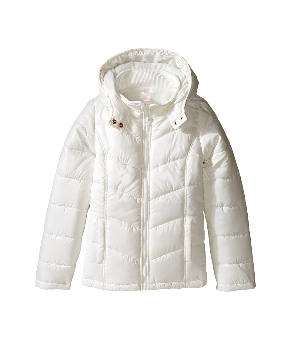 Pumpkin Patch Kids - Ruby Padded Puffer Jacket (Little Kids/Big Kids) (French Vanilla) Girl's Coat
