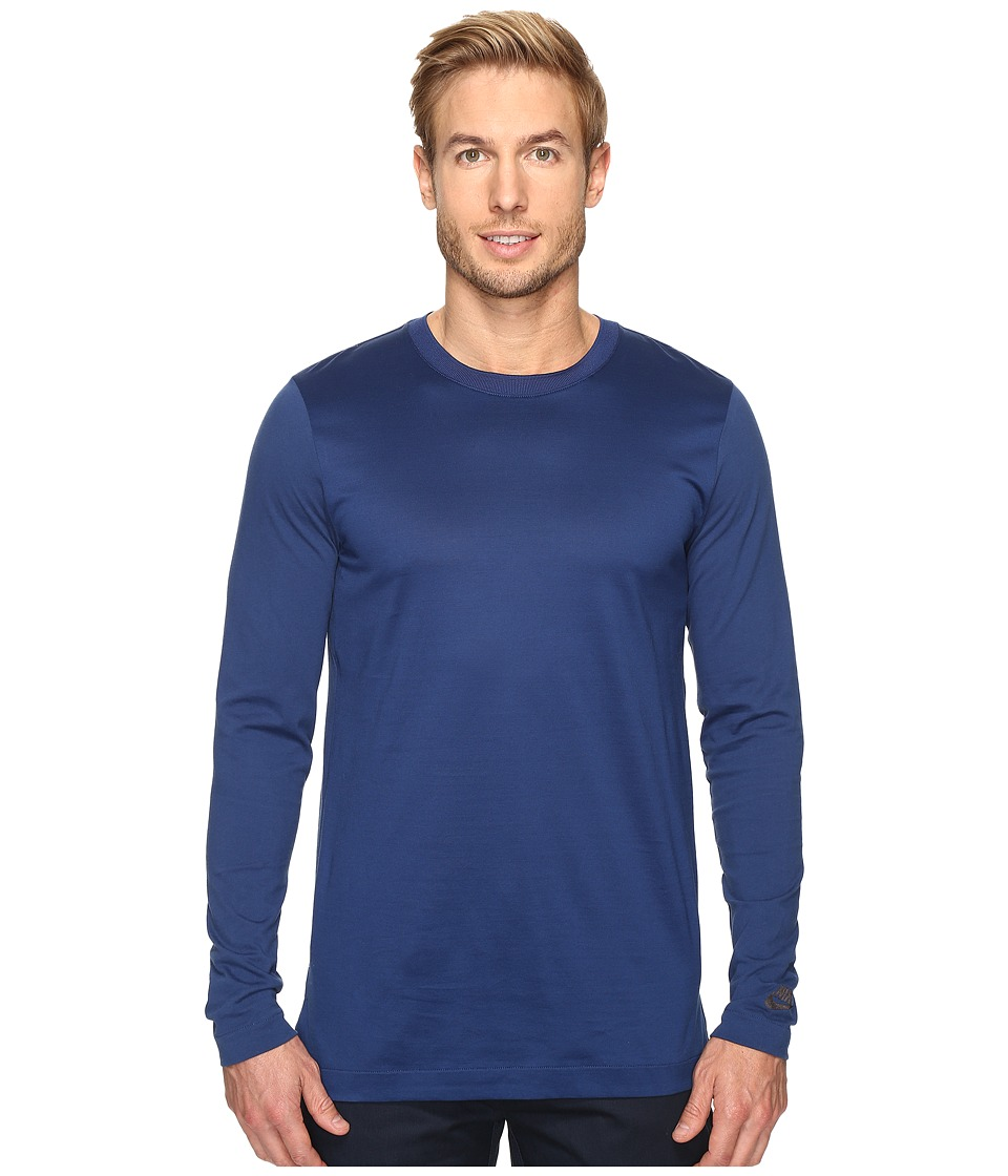 Nike - Modern Long Sleeve Top (Coastal Blue/Black) Men's Long Sleeve Pullover