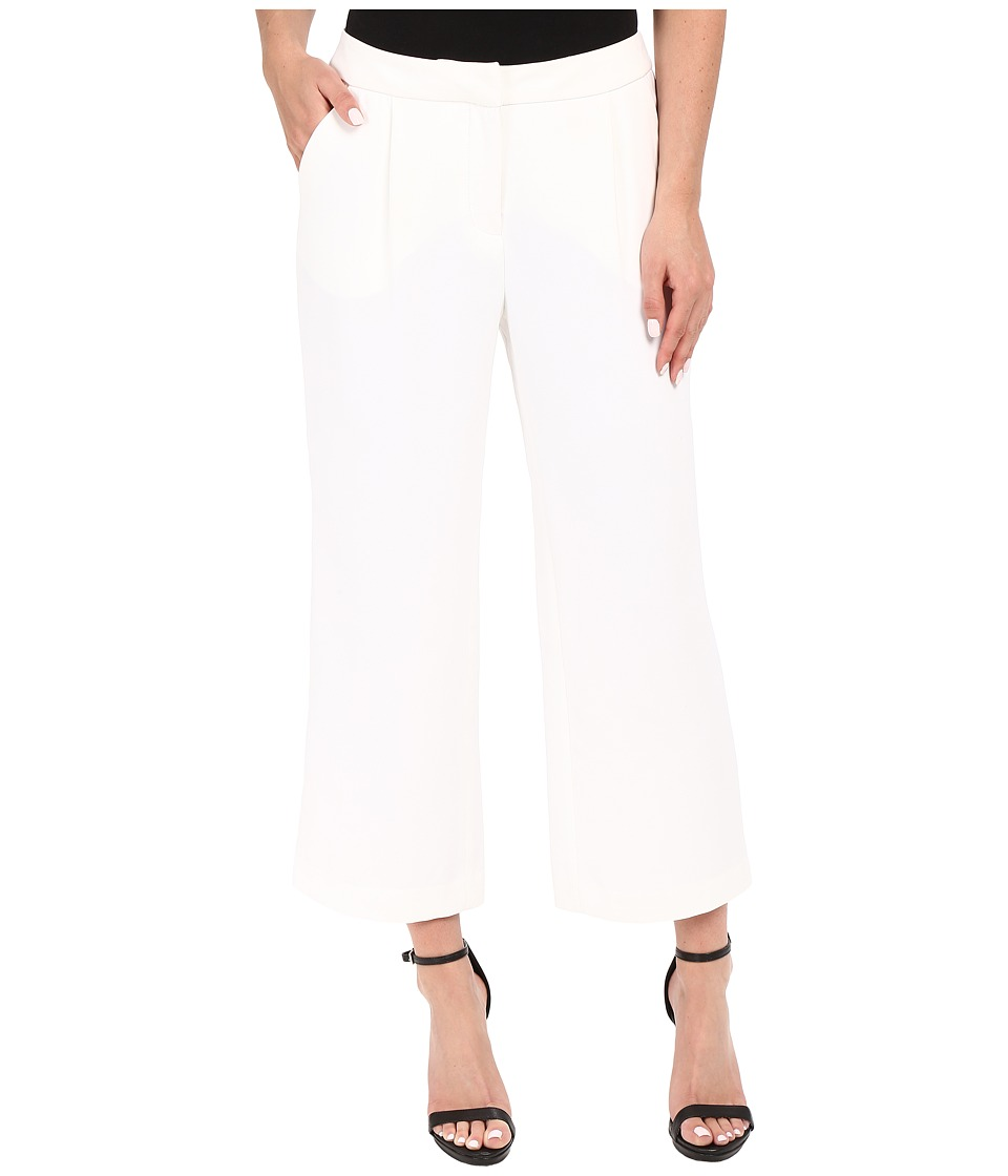 Ellen Tracy - Wide Cropped Pants (E White) Women's Casual Pants