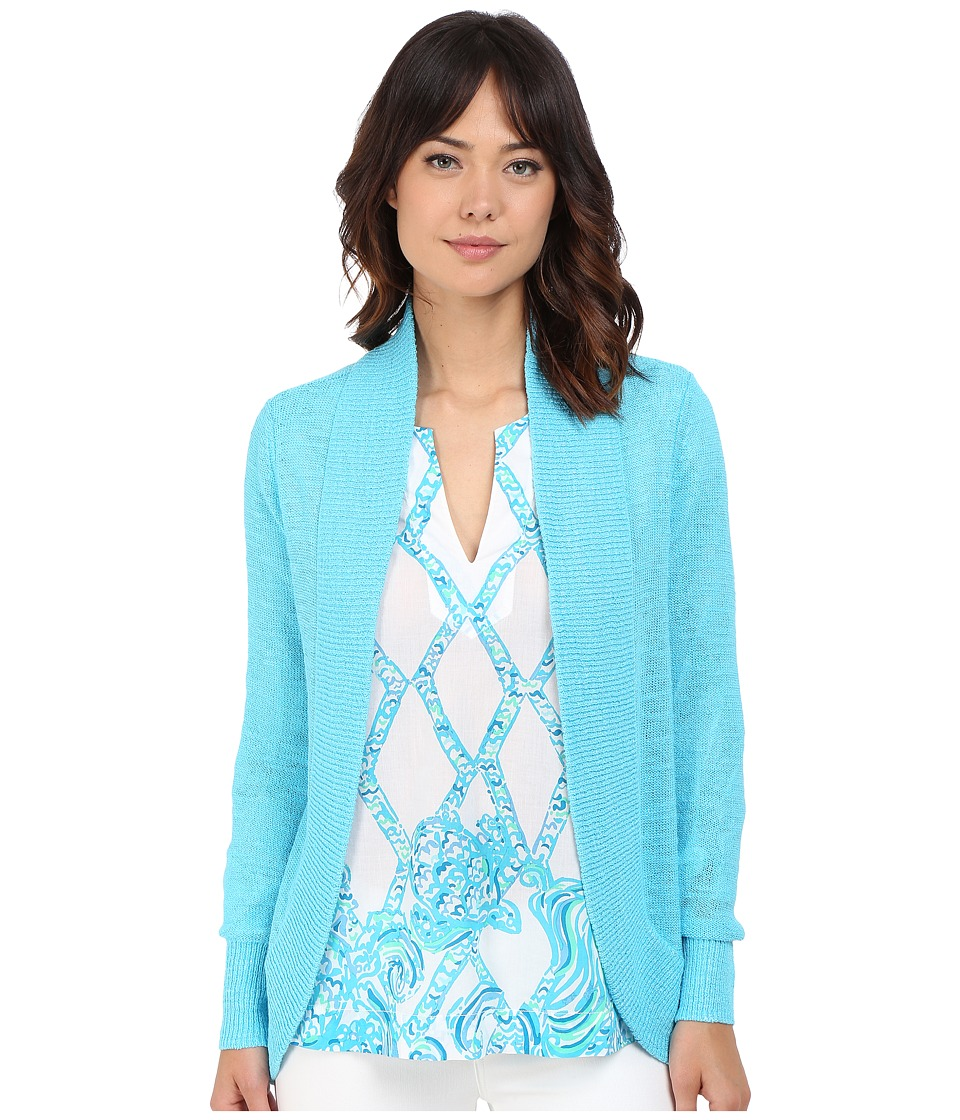 Lilly Pulitzer - Amalie Cardigan (Pool House Blue) Women's Sweater