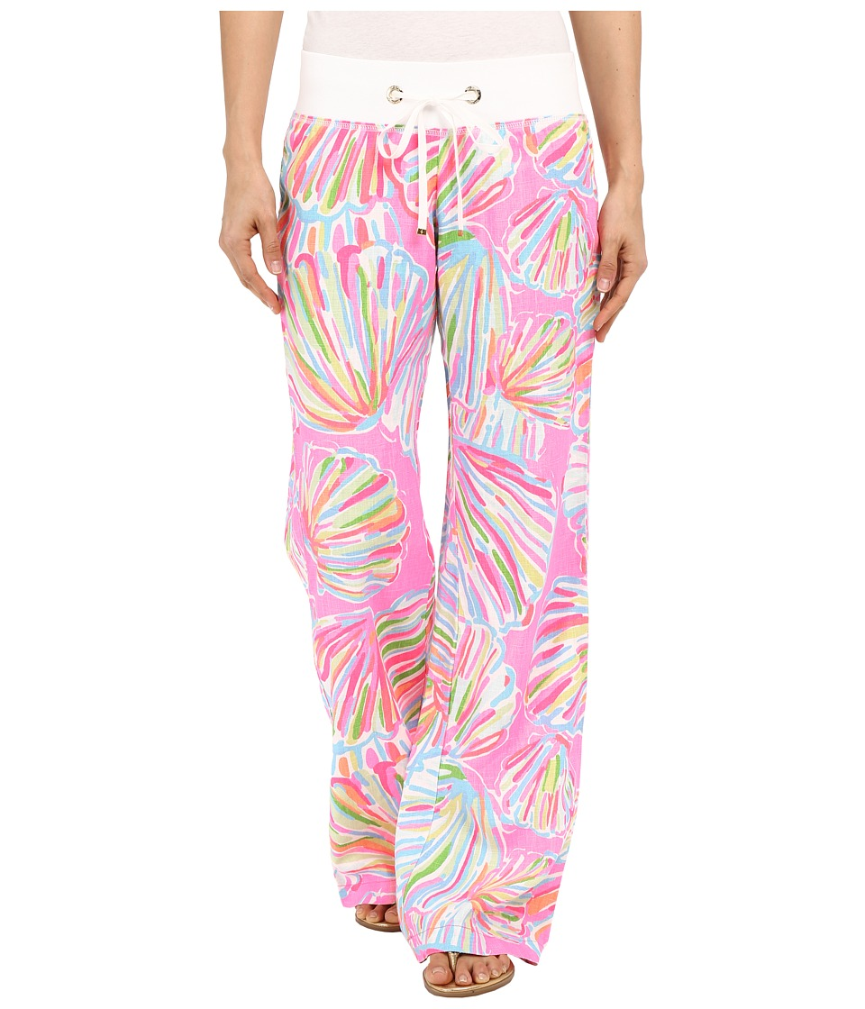 Lilly Pulitzer - Beach Pant (Pink Pout Shellabrate) Women's Casual Pants