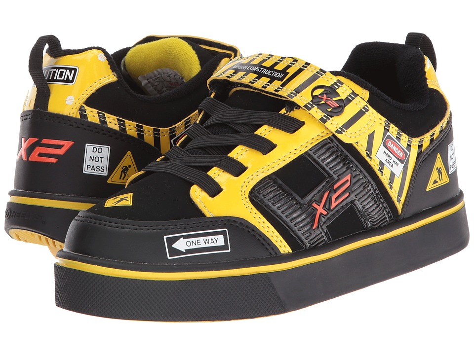 Heelys - Bolt X2 Lighted (Little Kid/Big Kid/Men's) (Black/Yellow/Caution) Boys Shoes