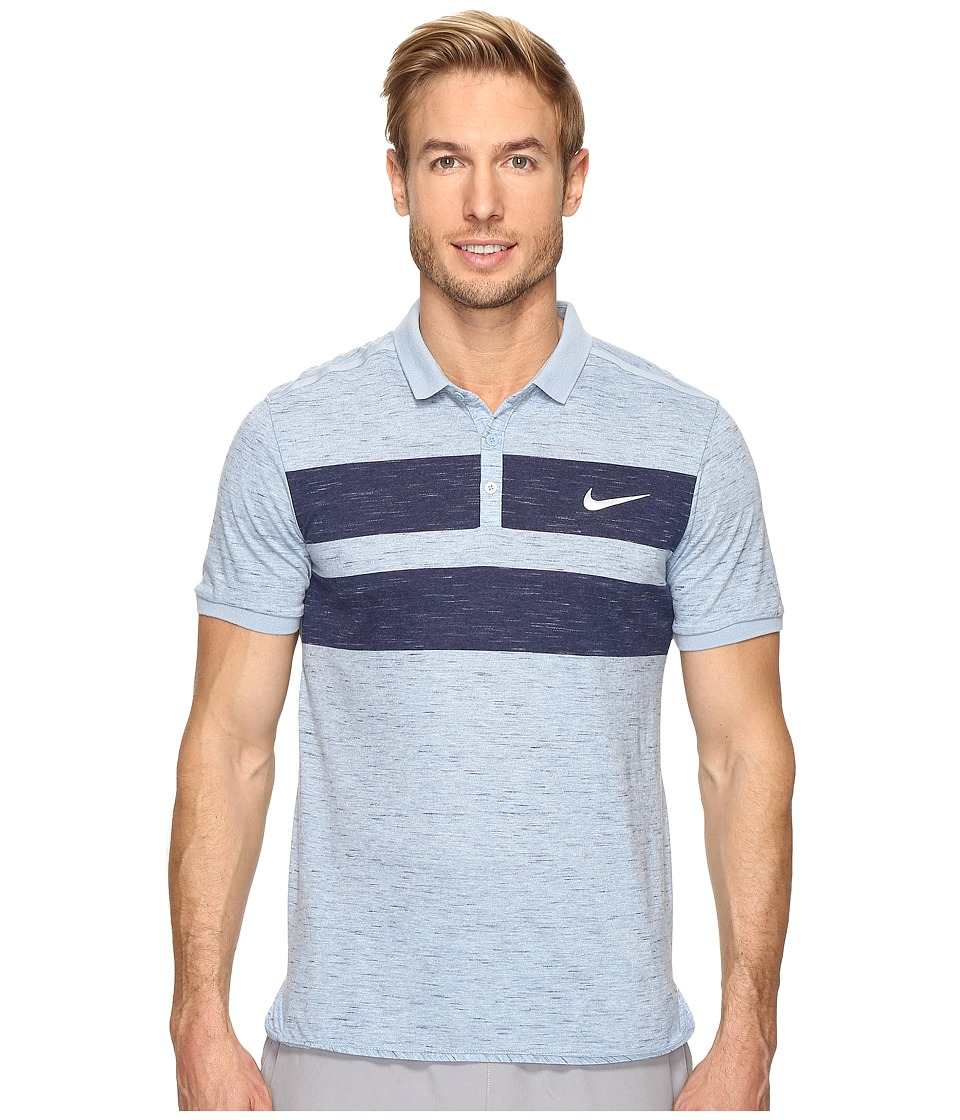 Nike - Court Dry Advantage Tennis Polo (Blue Grey/Midnight Navy/White) Men's Clothing