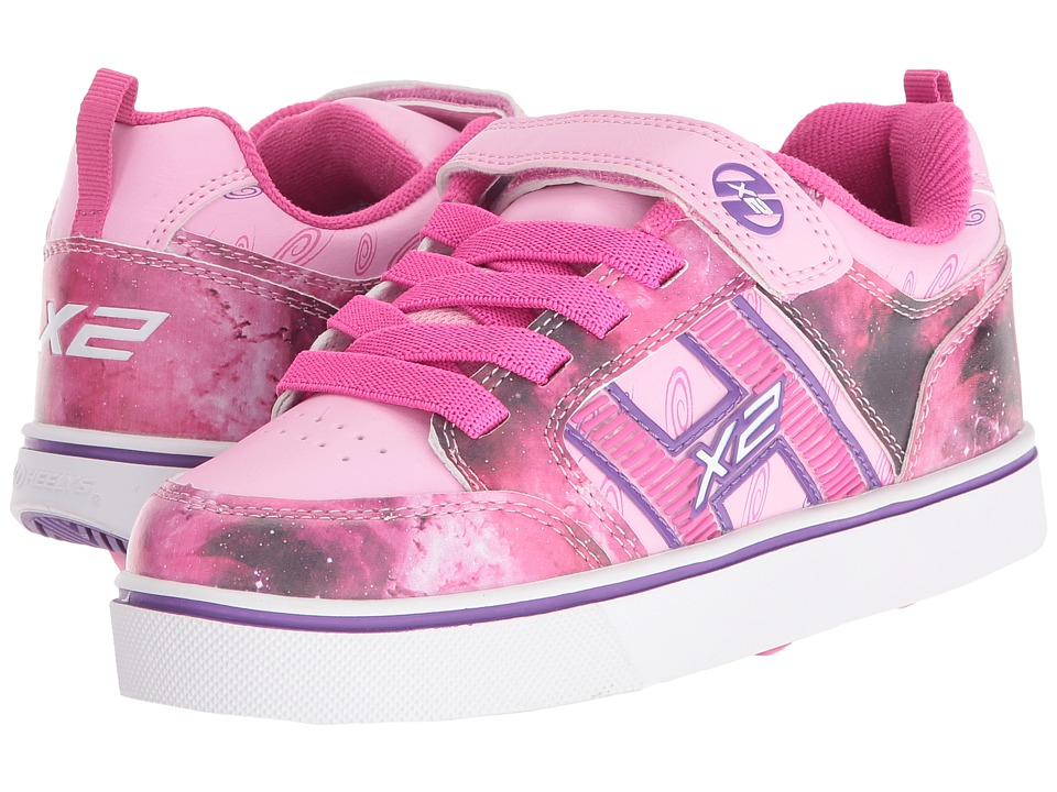 Heelys - Bolt X2 Lighted (Little Kid/Big Kid/Adult) (Pink/Purple/Space) Girls Shoes