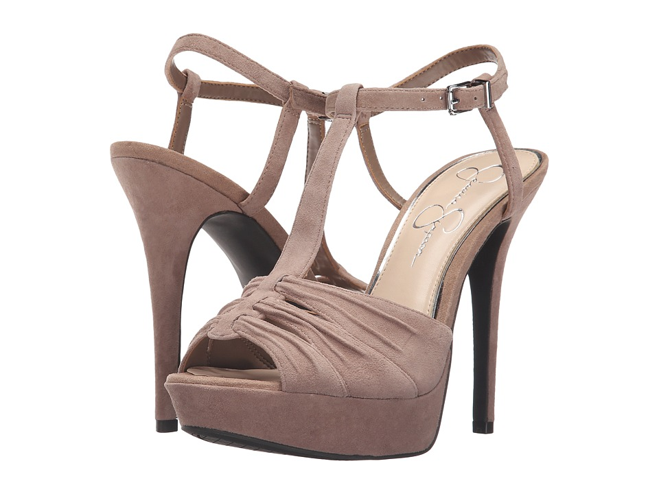 Jessica Simpson - Bassie (Totally Taupe Luxe Kid Suede) Women