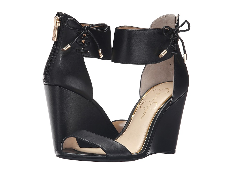 Jessica Simpson - Breeley (Black Soft Nappa Silk) Women's Wedge Shoes