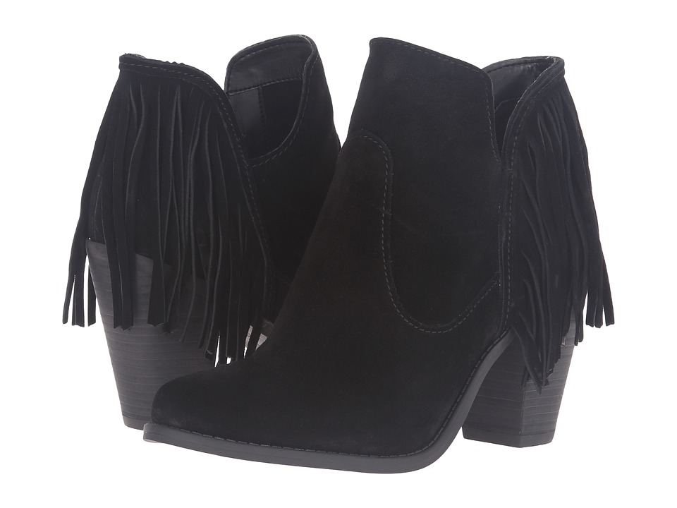 Jessica Simpson - Cecila (Black Split Suede) Women's Pull-on Boots