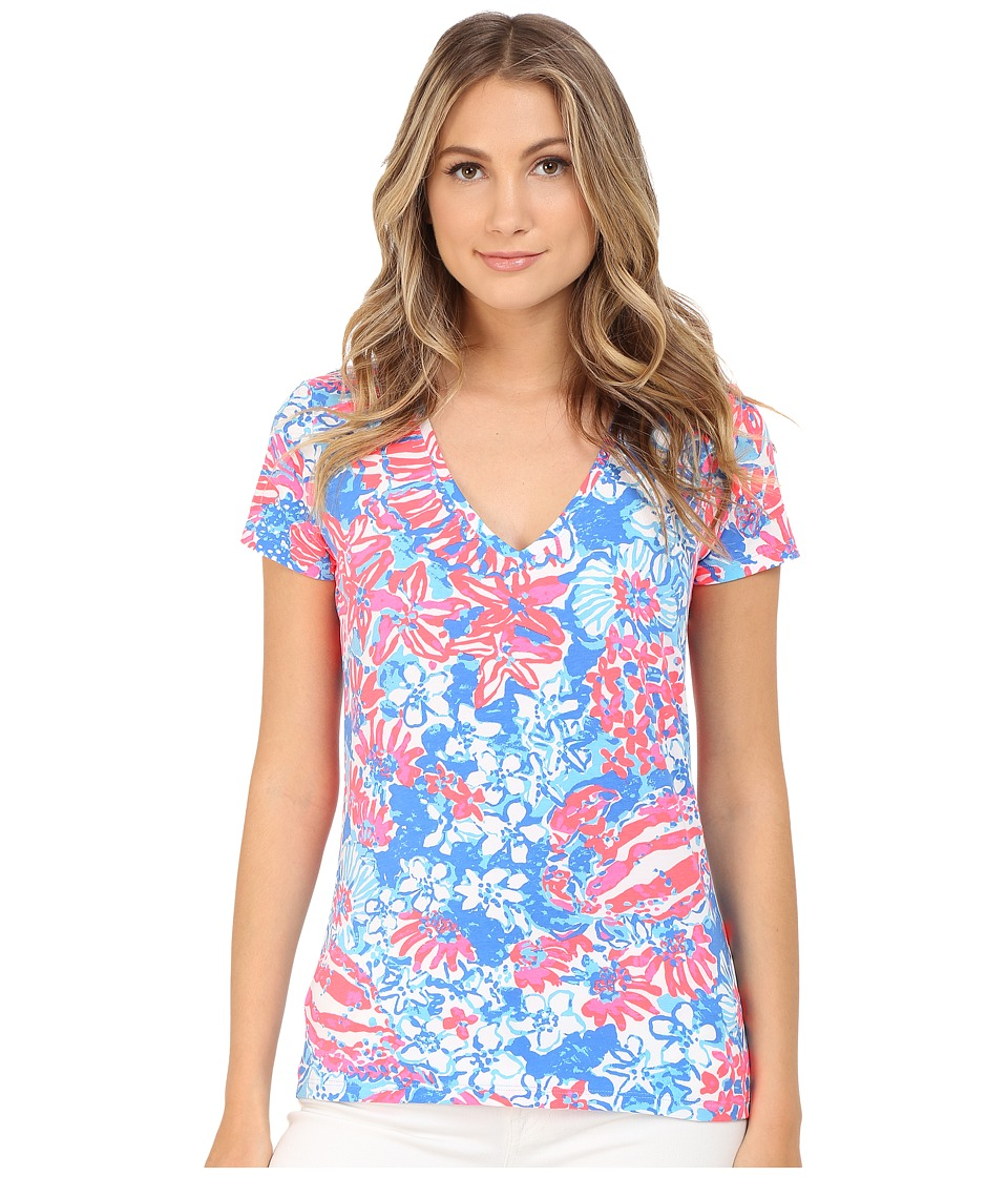 Lilly Pulitzer - Michele Top (Bay Blue Pop Pop) Women's T Shirt