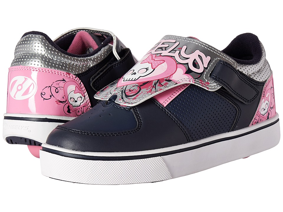 Heelys - Twister X2 I Turn (Little Kid/Big Kid/Adult) (Navy/Pink/Silver) Girls Shoes
