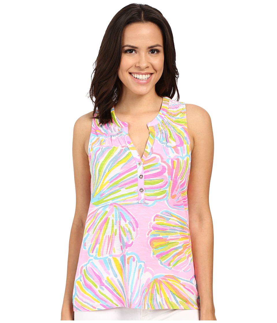 Lilly Pulitzer - Essie Top (Pink Pout Shellabrate) Women's Sleeveless