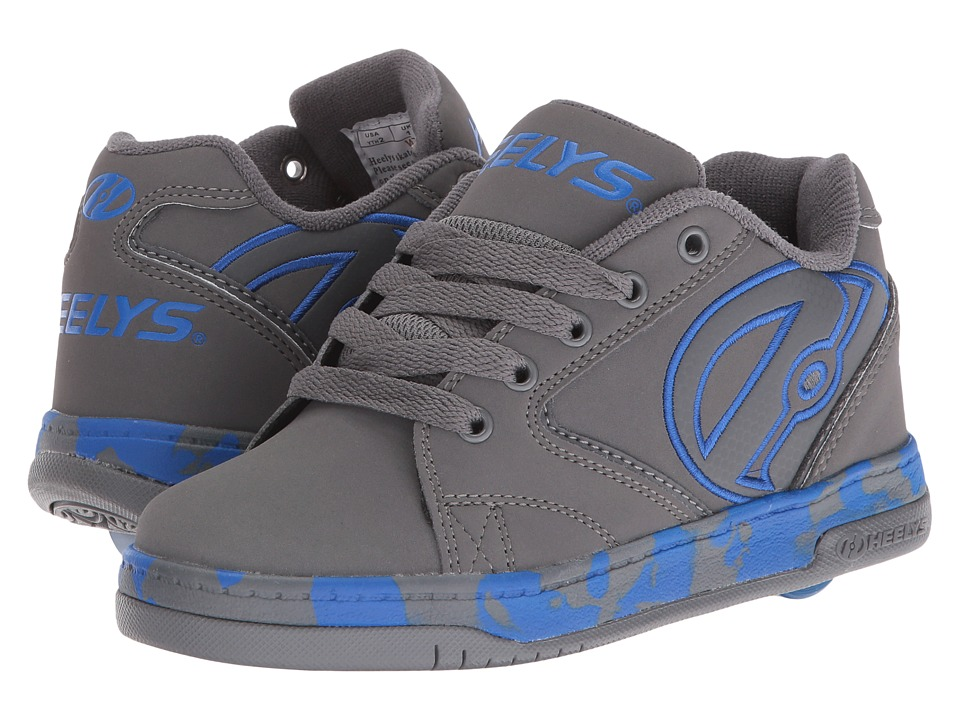 Heelys - Propel 2.0 (Little Kid/Big Kid/Adult) (Grey/Royal/Confetti) Boys Shoes
