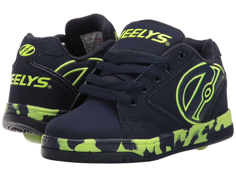Heelys Propel 2.0 (Little Kid/Big Kid/Adult) (Navy/Lime/Confetti) Boys Shoes
