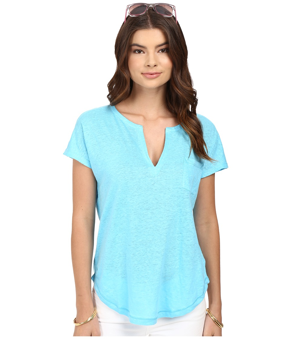 Lilly Pulitzer - Duval Top (Pool House Blue) Women's T Shirt
