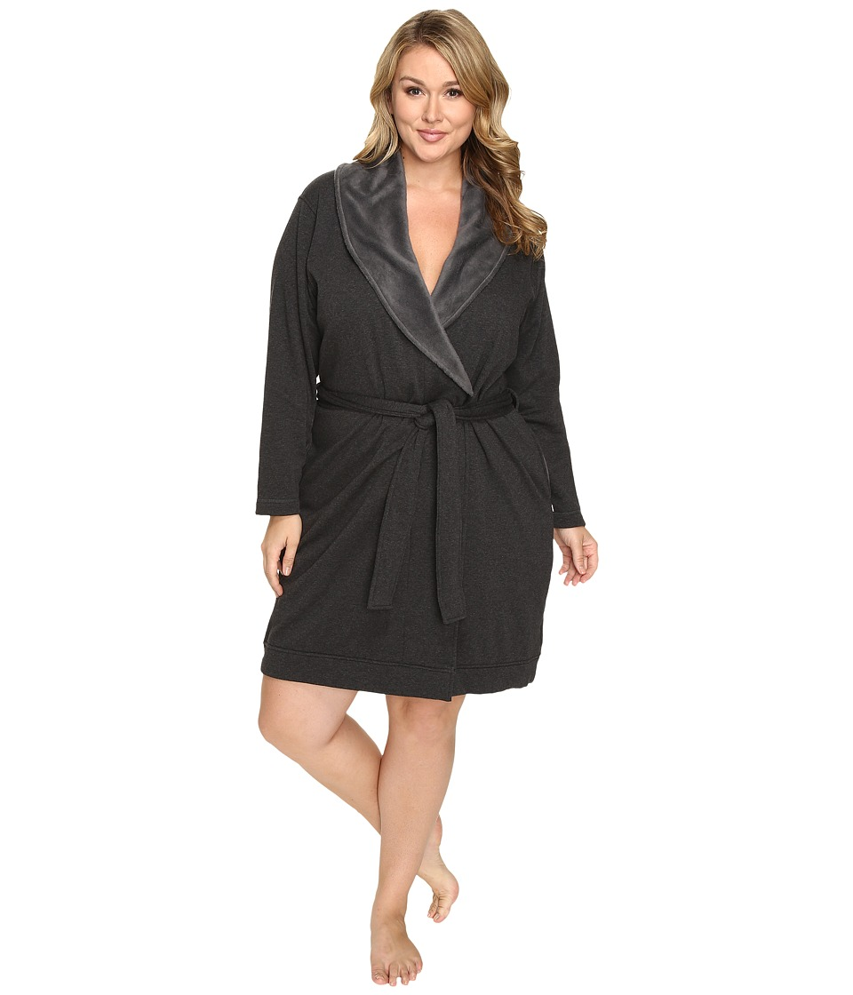 UGG - Plus Size Blanche Robe (Black Bear Heather) Women's Robe