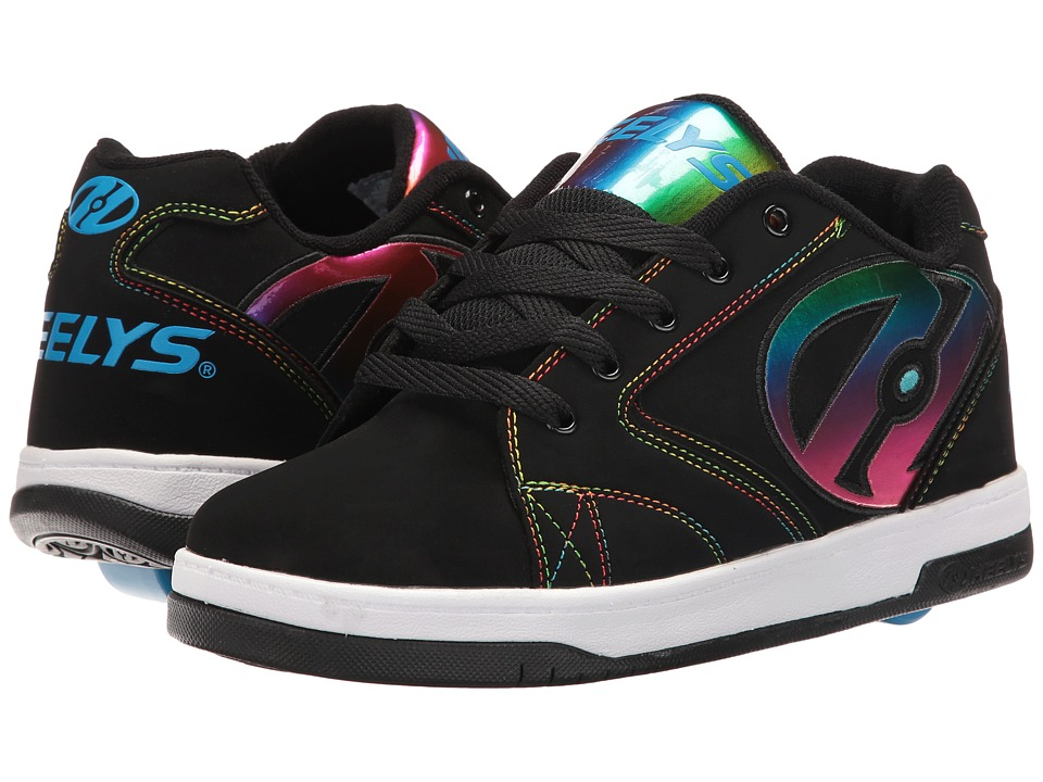 Heelys Propel 2.0 (Little Kid/Big Kid/Adult) (Black/Rainbow Foil) Girls Shoes
